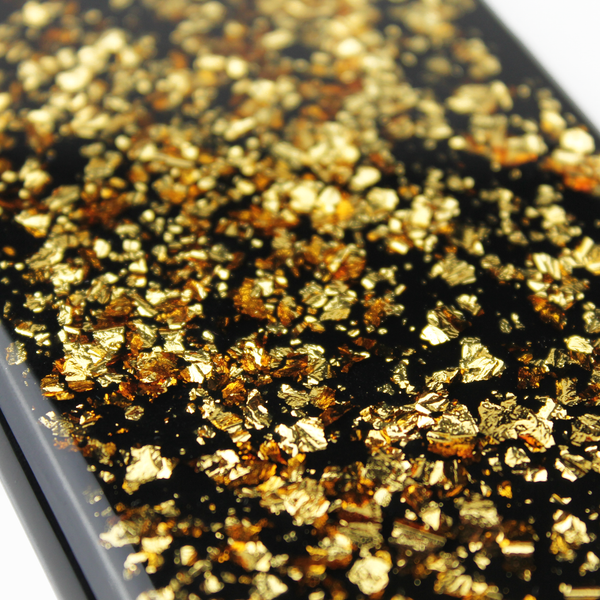 Gold Floating Black Flake Case - By Dominic  - 3
