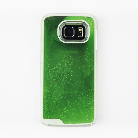 Green Glow in the Dark Liquid Samsung Case - By Dominic  - 1