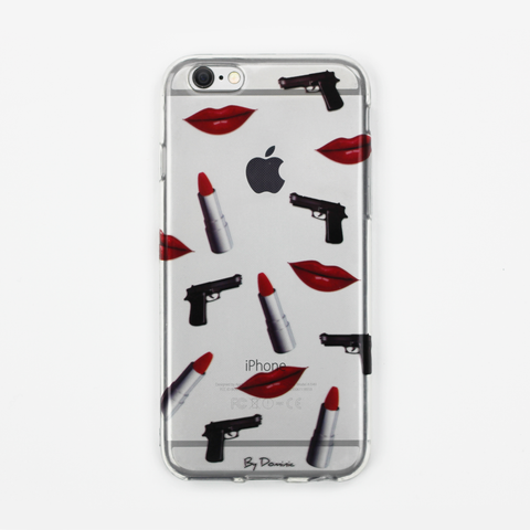 Gun and Lipstick Clear Case - By Dominic  - 1
