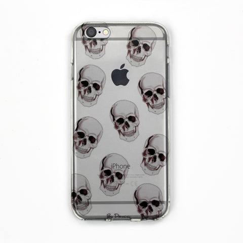 Human Skulls Clear Case - By Dominic  - 1