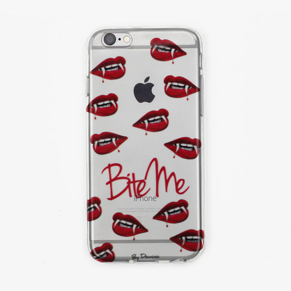 Bite Me Vampire Lips Clear Case - By Dominic  - 1