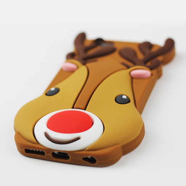 Large Reindeer Holiday iPhone Case - By Dominic  - 2