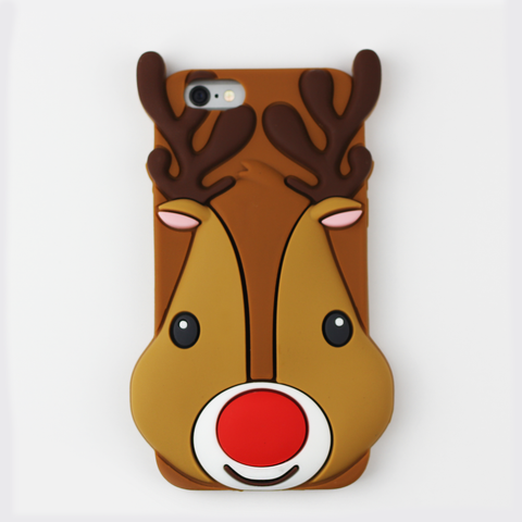 Large Reindeer Holiday iPhone Case - By Dominic  - 1