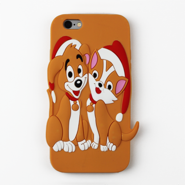 Dog and Cat Holiday iPhone Case - By Dominic  - 1