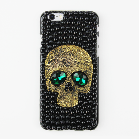 Black Rhinestone Skull Case - By Dominic  - 1