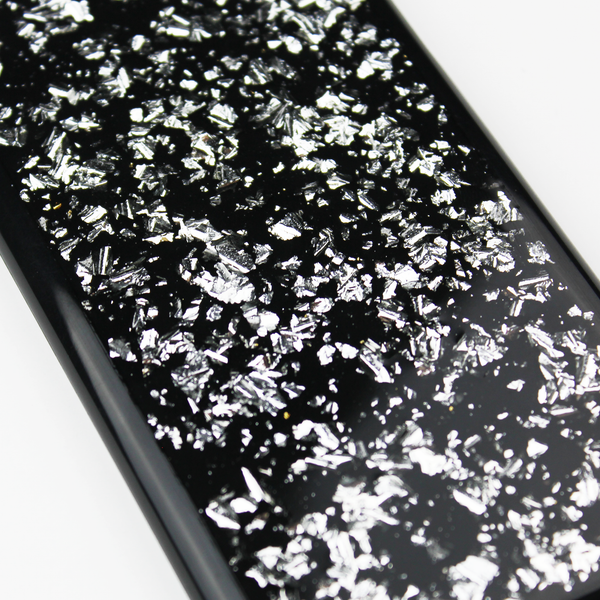 Silver Floating Black Flake Case - By Dominic  - 3