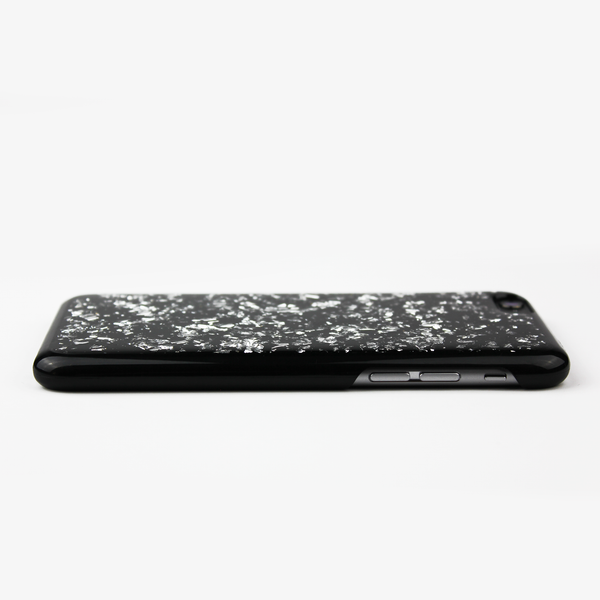 Silver Floating Black Flake Case - By Dominic  - 4