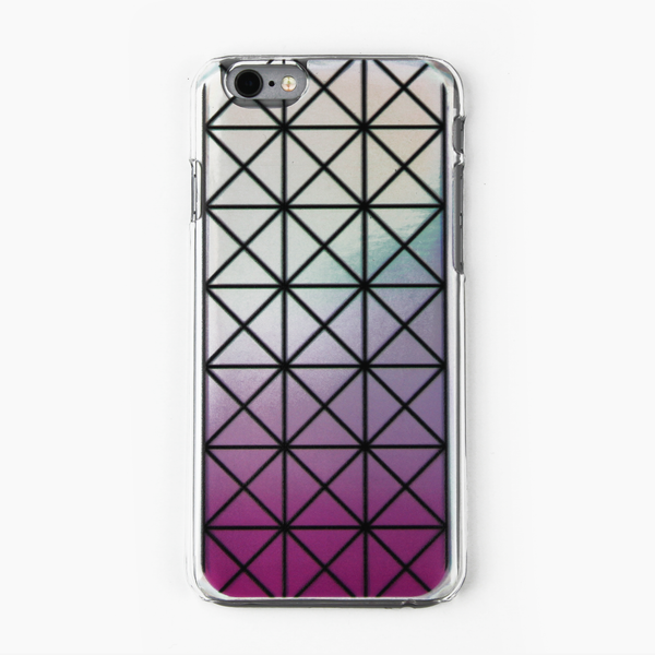 Pink Geometric Holographic iPhone Case - By Dominic  - 1