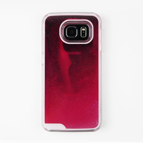 Hot Pink Glow in the Dark Liquid Samsung Case - By Dominic  - 1