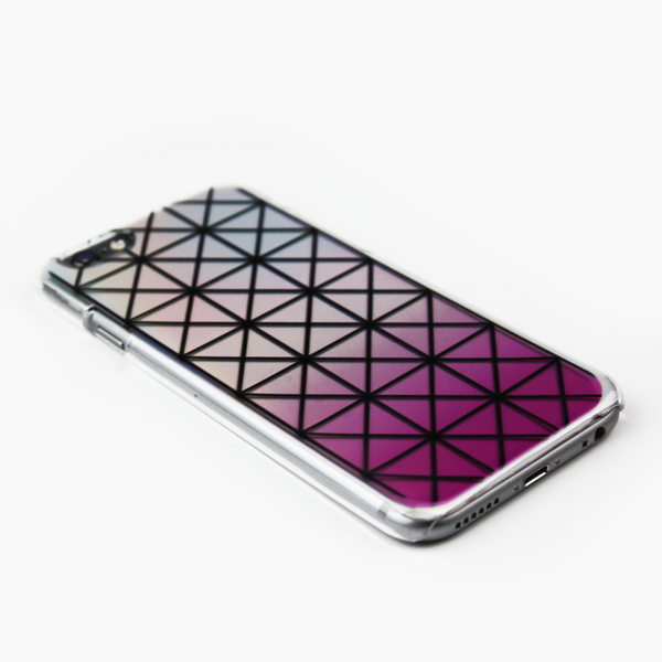 Pink Geometric Holographic iPhone Case - By Dominic  - 3
