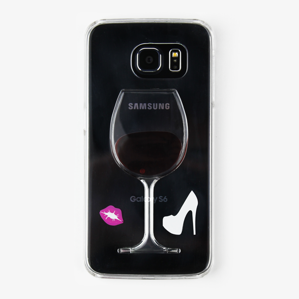 Red Wine Liquid Waterfall Samsung Case - By Dominic  - 1