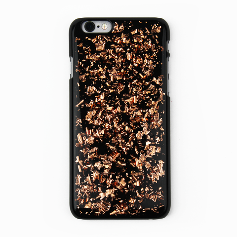 Rose Gold Floating Black Flake Case - By Dominic  - 1