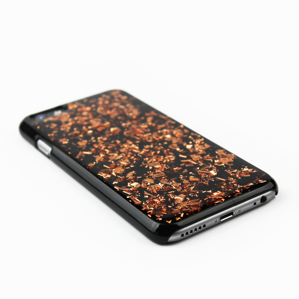Rose Gold Floating Black Flake Case - By Dominic  - 2
