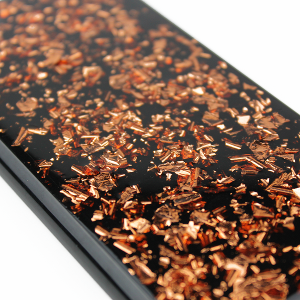 Rose Gold Floating Black Flake Case - By Dominic  - 3