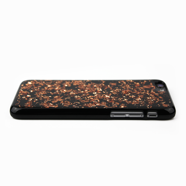 Rose Gold Floating Black Flake Case - By Dominic  - 4