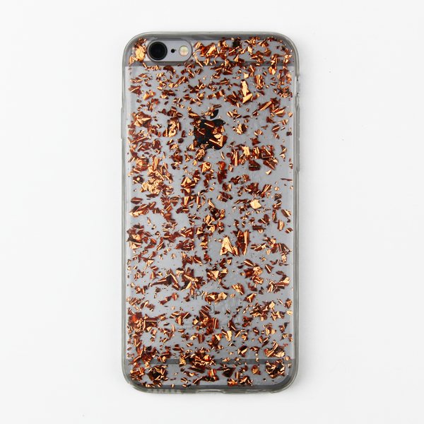 Rose Gold Floating Flake Case - By Dominic  - 1