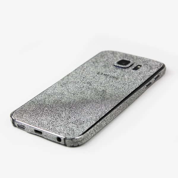 Silver Glitter Samsung Decal - By Dominic  - 3