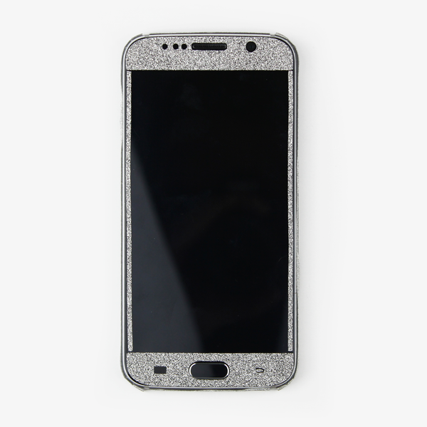 Silver Glitter Samsung Decal - By Dominic  - 2