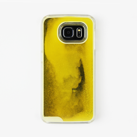 Yellow Glow in the Dark Liquid Samsung Case - By Dominic  - 1
