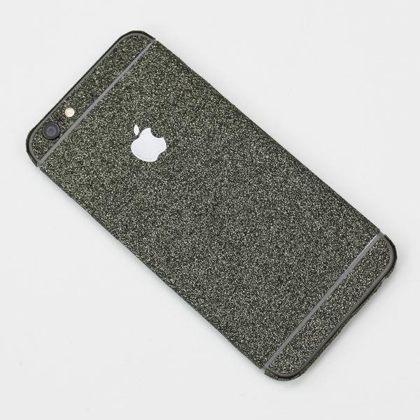 Charcoal Glitter iPhone Decal - By Dominic  - 1