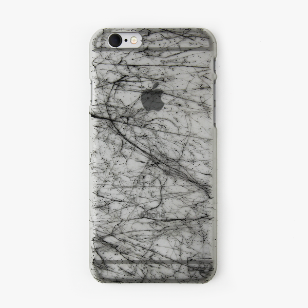 Black Splatter Glow in the Dark iPhone Case - By Dominic  - 1
