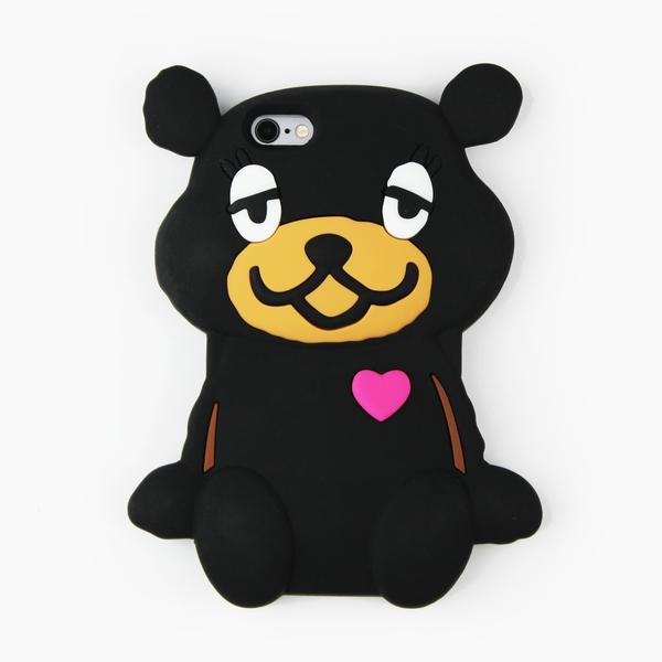 Black Teddy Bear iPhone Case - By Dominic  - 1