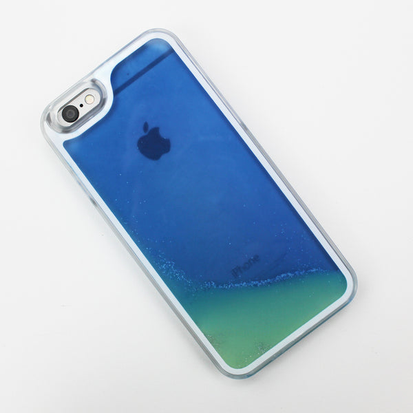 Blue Glow in the Dark Liquid iPhone Case - By Dominic  - 1