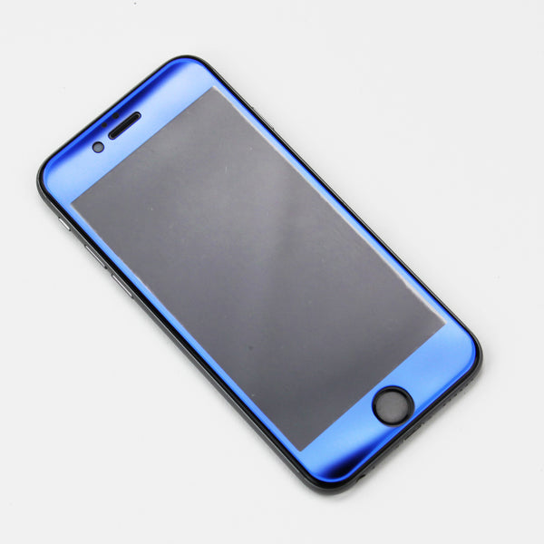 Blue Tempered Glass iPhone Protective - By Dominic  - 2
