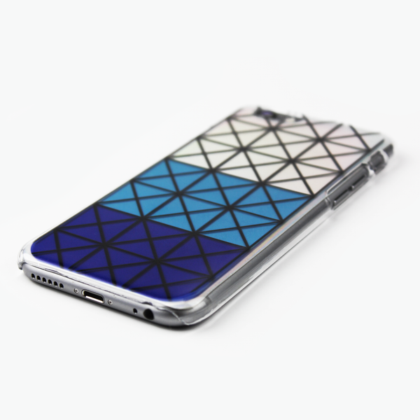 Blue Geometric Holographic iPhone Case - By Dominic  - 2