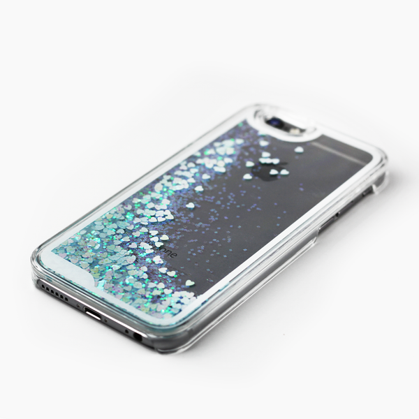 Blue Holographic Hearts Case - By Dominic  - 2