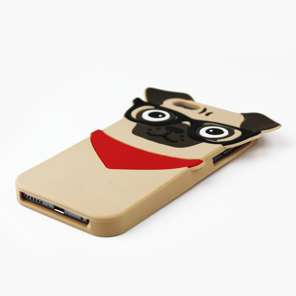 Hipster Pug Silicone iPhone Case - By Dominic  - 3