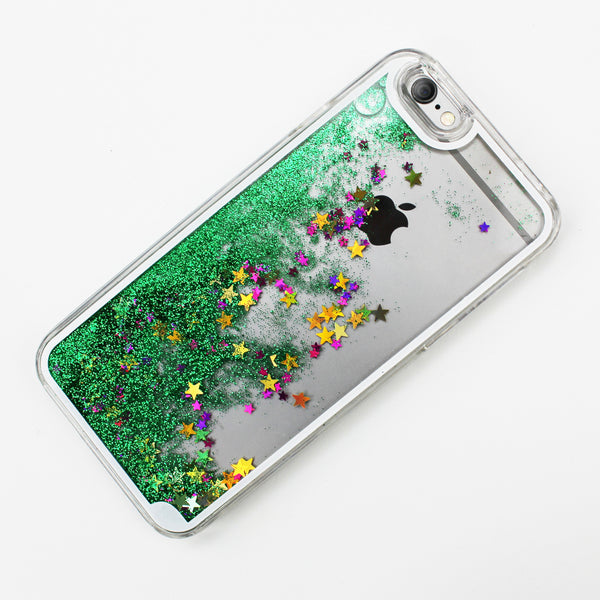 Green Liquid Waterfall iPhone Case - By Dominic  - 2