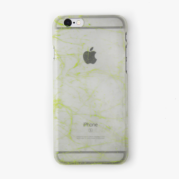 Green Splatter Glow in the Dark iPhone Case - By Dominic  - 1