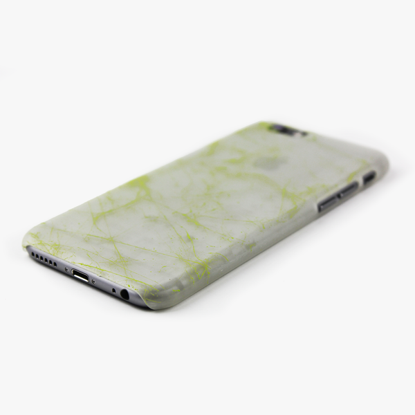 Green Splatter Glow in the Dark iPhone Case - By Dominic  - 2