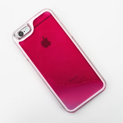 Hot Pink Glow in the Dark Liquid iPhone Case - By Dominic  - 1