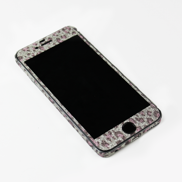Purple Leopard Glitter iPhone Decal - By Dominic  - 3