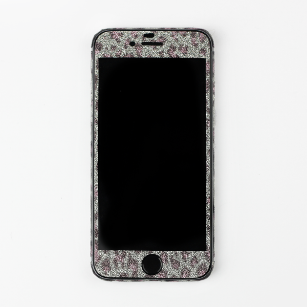 Purple Leopard Glitter iPhone Decal - By Dominic  - 2