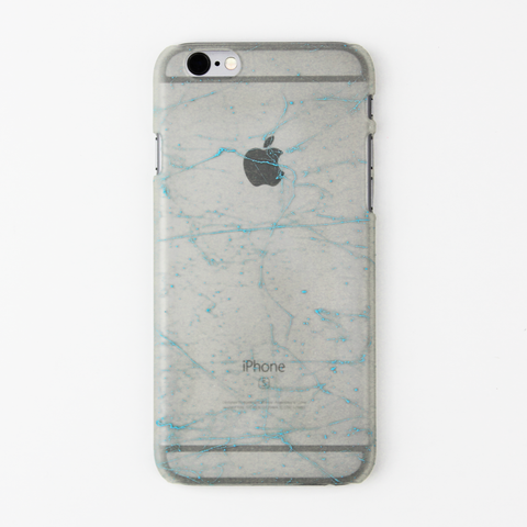 Light Blue Splatter Glow in the Dark iPhone Case - By Dominic  - 1