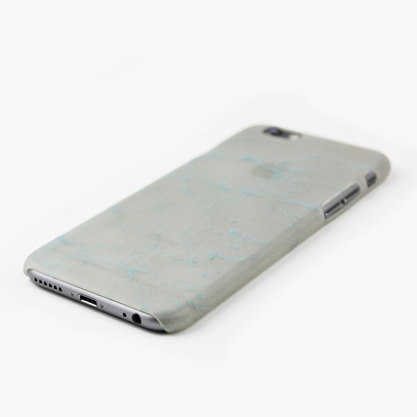 Light Blue Splatter Glow in the Dark iPhone Case - By Dominic  - 2