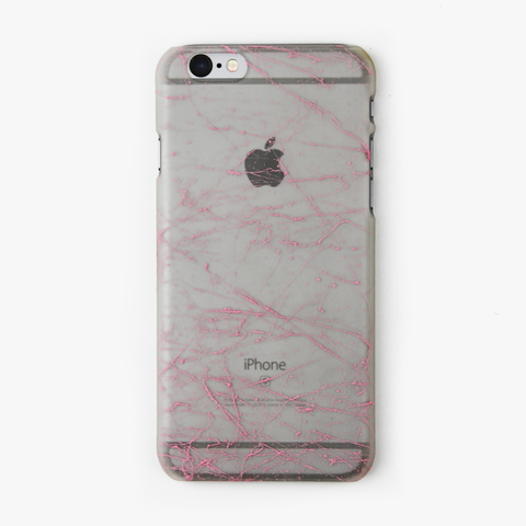 Light Pink Splatter Glow in the Dark iPhone Case - By Dominic  - 1