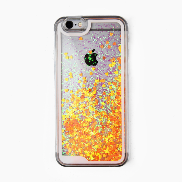 Orange Holographic Hearts Case - By Dominic  - 1