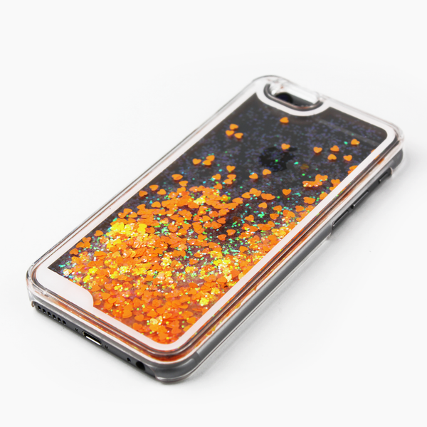 Orange Holographic Hearts Case - By Dominic  - 2