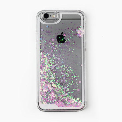 Pink Liquid Holographic Hearts Case - By Dominic  - 1