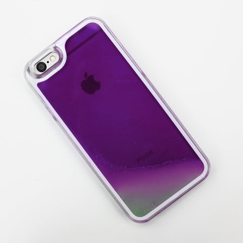 Purple Glow in the Dark Liquid iPhone Case - By Dominic  - 1