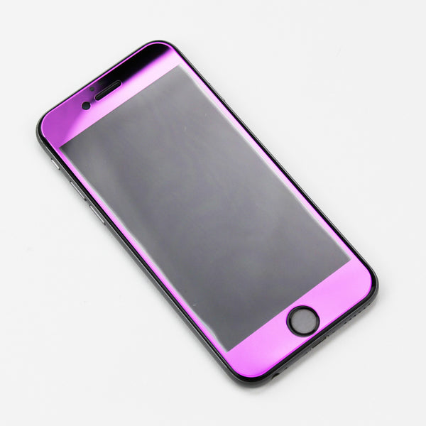 Purple Tempered Glass iPhone Protective - By Dominic  - 2