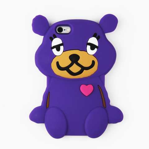 Purple Teddy Bear iPhone Case - By Dominic  - 1