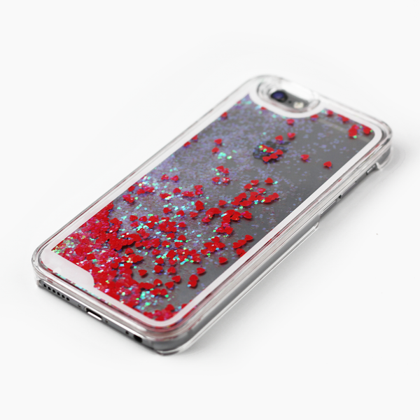 Red Holographic Hearts Case - By Dominic  - 2