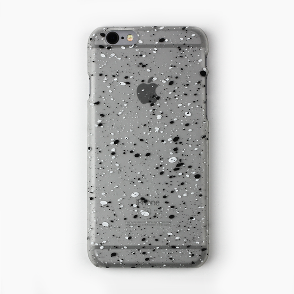 Black Speckled Glow in the Dark iPhone Case - By Dominic