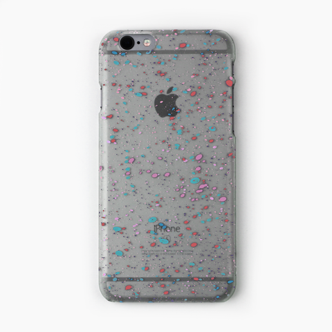 Blue Speckled Glow in the Dark iPhone Case - By Dominic