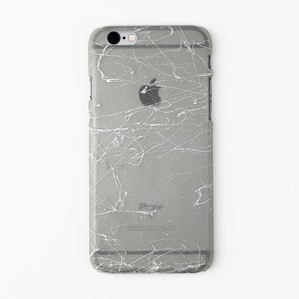 White Splatter Glow in the Dark iPhone Case - By Dominic  - 1